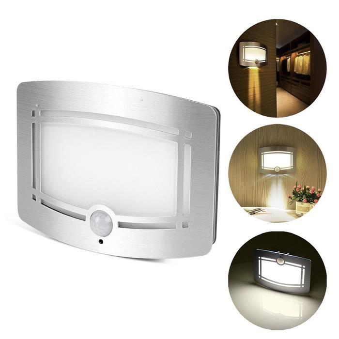 Sans Fil Led Lampe De Nuit Murale Luminaire Moderne Capteur De