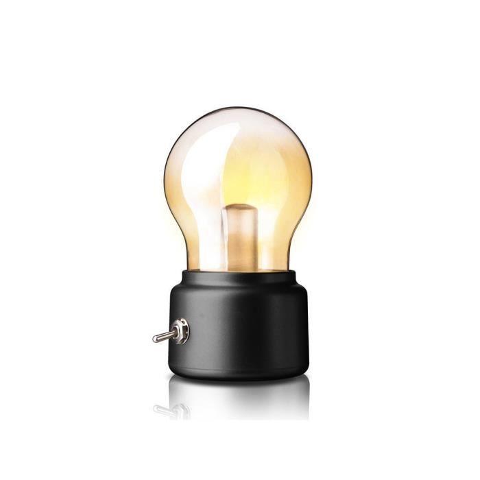 Led Lampe De Nuit Ampoule Vintage Avec Usb Charge Rechargeable