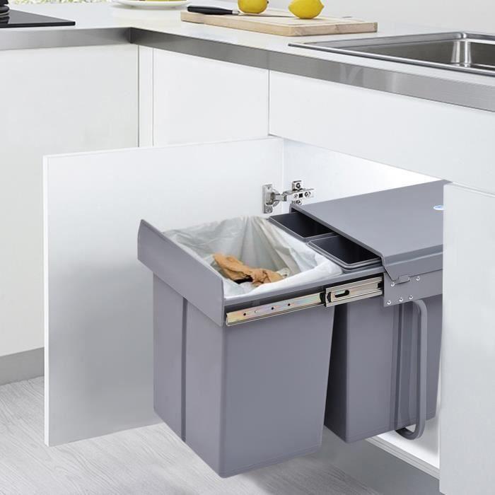 poubelle de cuisine encastrable achat vente pas cher. Black Bedroom Furniture Sets. Home Design Ideas