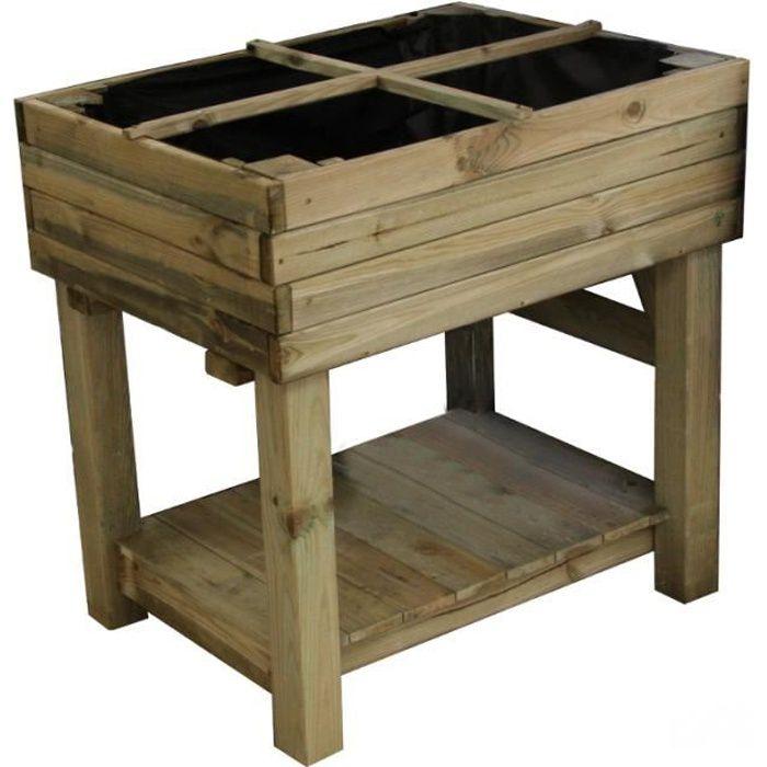 potager sur pied en bois achat vente carr potager table potager sur pied en bois cdiscount. Black Bedroom Furniture Sets. Home Design Ideas