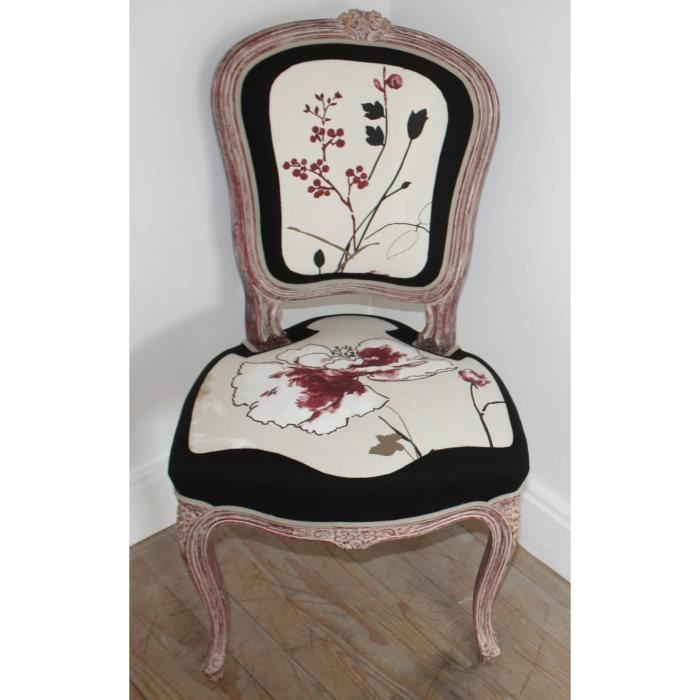 Chaise style Louis XV - Achat / Vente chaise Beige - Cdiscount