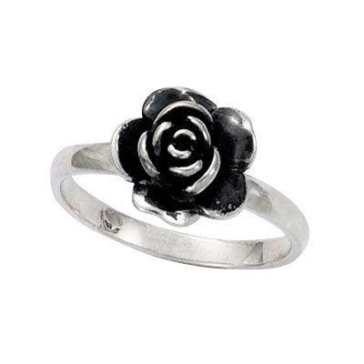 Bague Fleur Rose Amour Argent Argente Achat Vente Bague Anneau