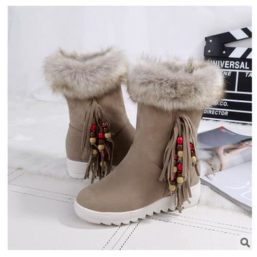 chaud tassel chaussures bottes frosted supérieu...