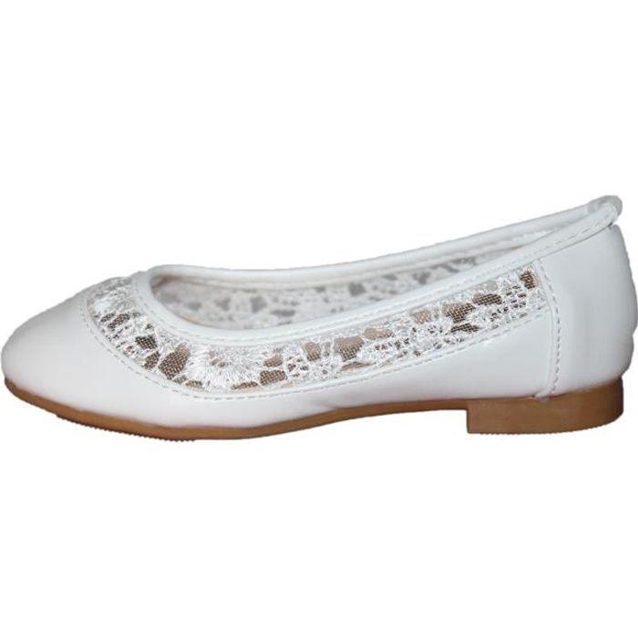 marques reconnues Nouvelles Arrivées femme Chaussure blanche ceremonie enfant fille