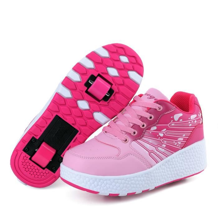 Mode enfants Casual Shoes double roulettes patins à roulettes chaussures de relaxation