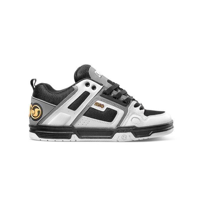 Chaussure DVS Comanche Blanc Gris Leather ElqHq1