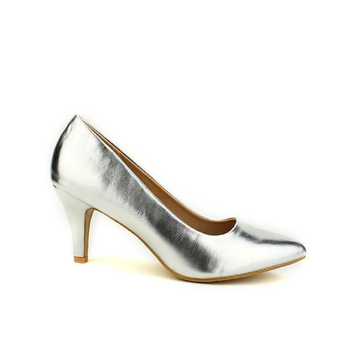 en soldes fe1ab 9b631 escarpin, Escarpins Argenté Chaussures Femme, Cendriyon