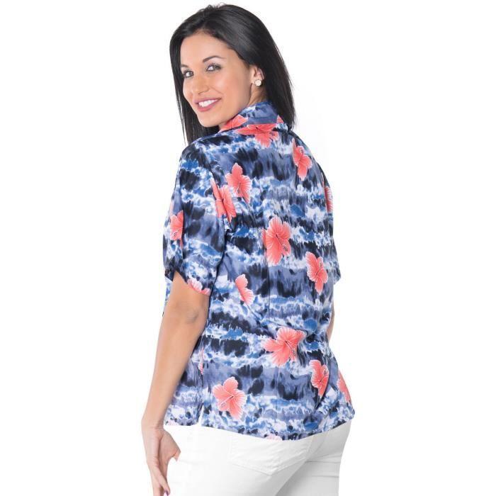 femmes robe Luau partie jour de plage bouton coverup hawaeen bas top manches courtes dames