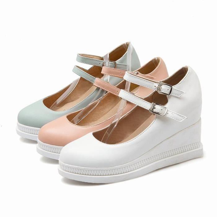 Chaussures Toutes Pointures En Rose Cuir De Femme 35 Lgante blanc Plateforme 43 bleu Les La Ronde Pu xrpTr0qHgw