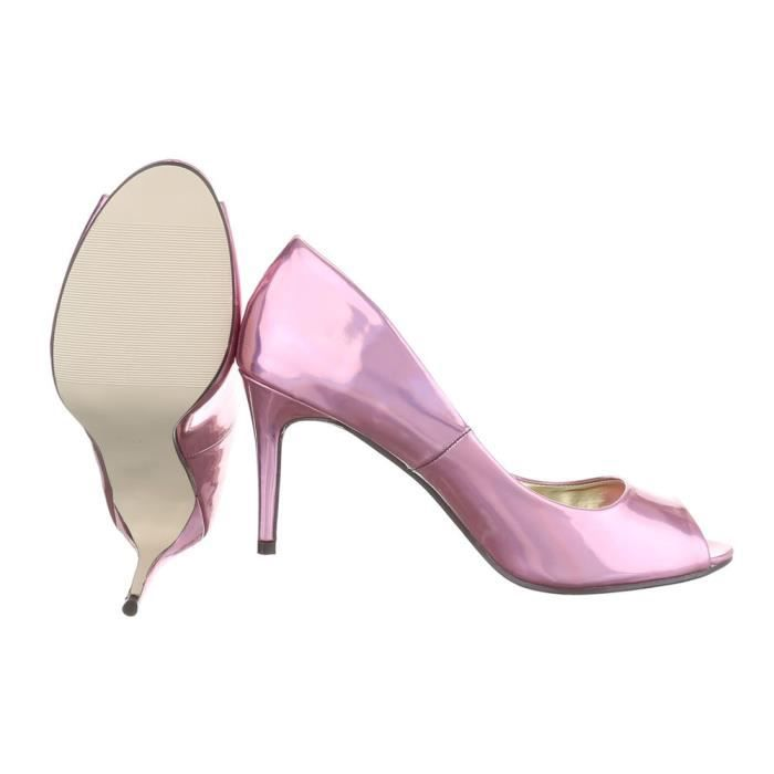 Femme chaussures escarpin Peep Toe High Heels rose 40