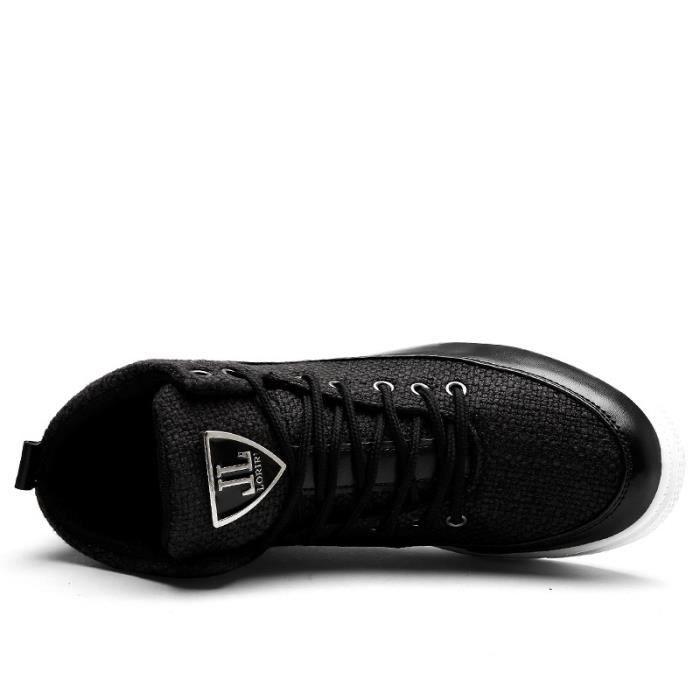 Skateshoes Homme Les étudiants de style de skate Automne - hiver Souliers simple d'homme noir taille39