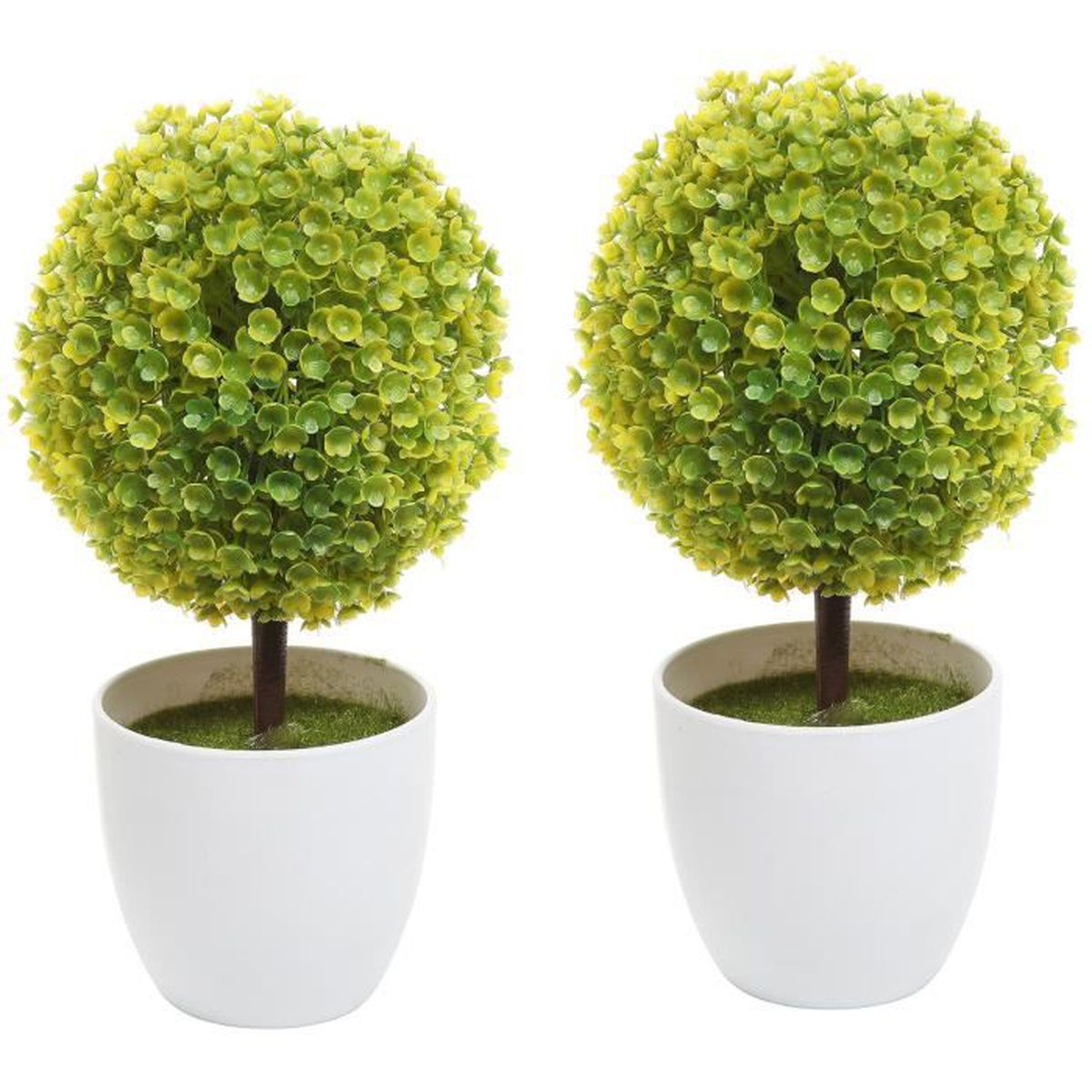 Pot De Fleur Artificielle : lot de 2 pots fleurs artificielles imitation plateau fleur plante topiaire en pot w blanc ~ Teatrodelosmanantiales.com Idées de Décoration