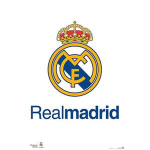 AFFICHE - POSTER Poster Football - Real Madrid, Logo (91 x 61 cm)