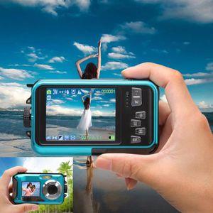 CAMÉSCOPE NUMÉRIQUE bleu - camera numérique etanche HD double ecran 24