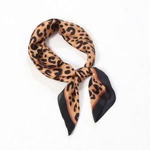 145ed705d59d Foulard en soie à imprimé léopard pour femme hiver Ya-2510 - Achat ...