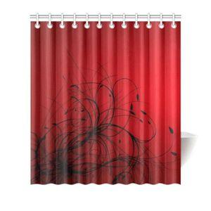 Rideau rouge et noir - Achat / Vente pas cher