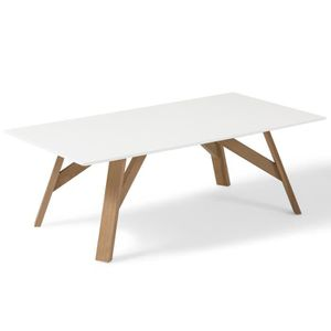 interesting table basse table basse design scandinave tycka blanc et pied with pied de table. Black Bedroom Furniture Sets. Home Design Ideas
