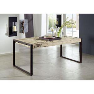 TABLE À MANGER SEULE Table à manger industrielle 180x90cm - Bois massif