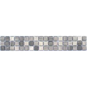 CARRELAGE - PAREMENT LISTEL FLEUR GRIS 5X30 CM