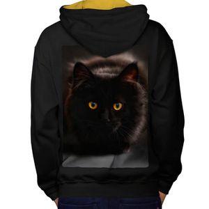 Costumes Chats Costume Pull-Over à Capuche de chatte noire pour enfant.