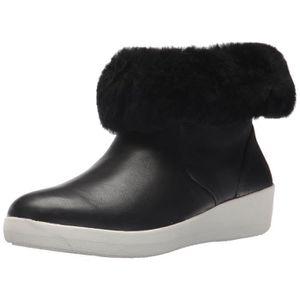 BOTTE Bottes en cuir noire des femmes Skatebootie 1GZ2U9