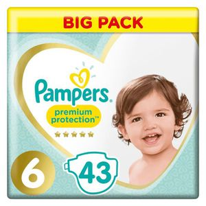 COUCHE PAMPERS Premium Protection Taille 6 15+ kg - 43 Co