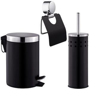 SET ACCESSOIRES Set de Salle de Bain Toilettes WC Design 3 Pièces