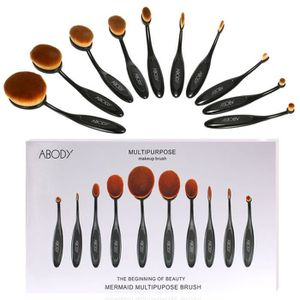 PINCEAUX DE MAQUILLAGE 10PCS Mode Pinceaux de Maquillage Brosse de Founda