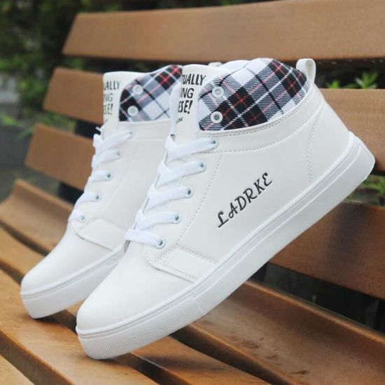 a2e75d099be Chaussures Blanc Montantes Mode Homme Chaussure Shoes Basket Skate 404rqwP1C