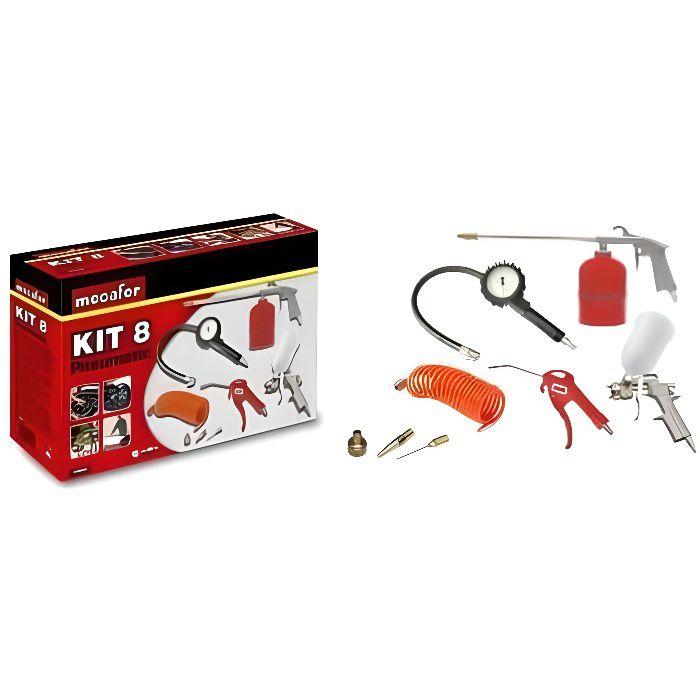 MECAFER Kit d'accessoires air comprimé 8 pièces