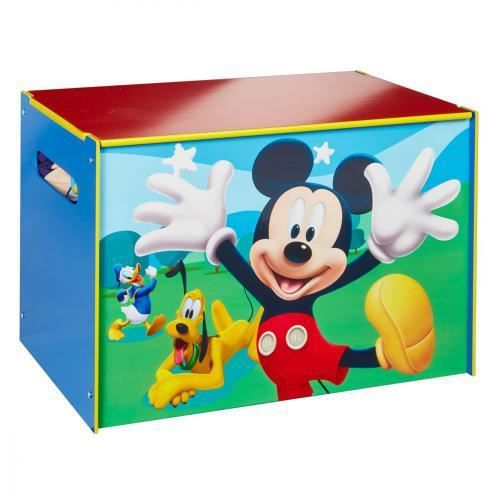 MICKEY ET SES AMIS - Coffre à jouets - Coffre de rangement pour chambre d'enfant