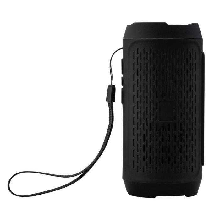 Stéréo Portable Carte Sd Sans Fil Bluetooth Fm Haut-parleur Pour Smartphone Tablet Pc Lly81220105bk
