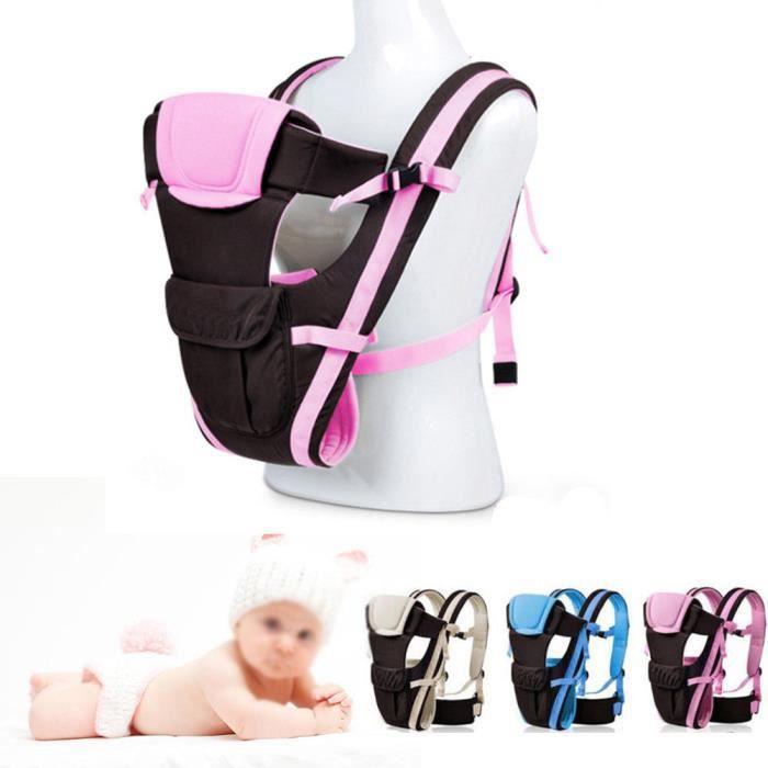 Porte Bébé Réglable Sac à Dos Confort Sécurité Backpack pour bébé - Rose 691b6e08910
