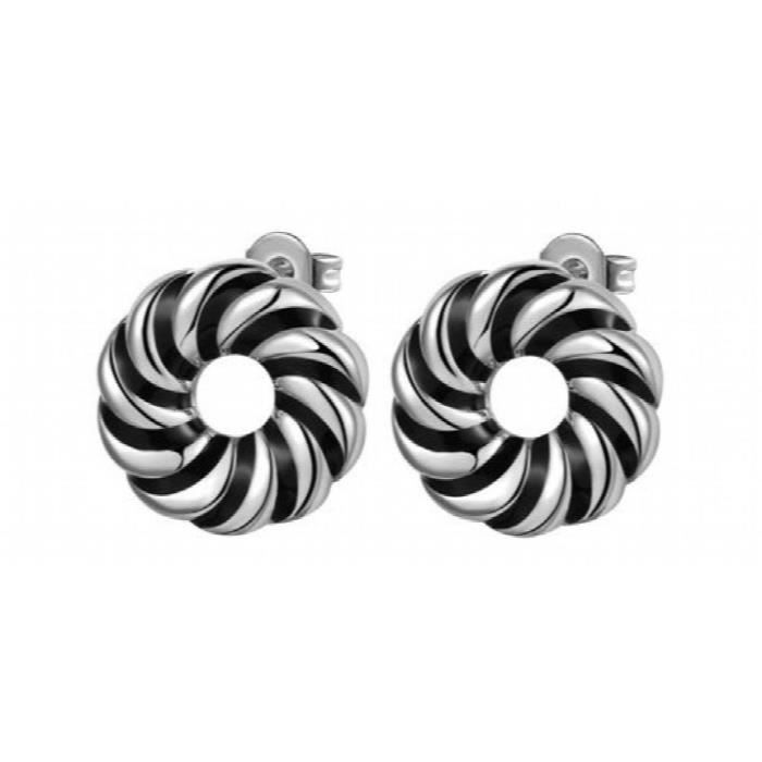 Womens Circle Of Hopes Rhodium Plated Studded Alloy Earrings For AndR9WAW