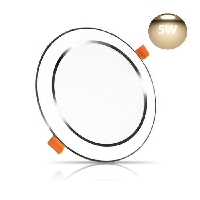 Encastré le Panneau Du 85mm Spot 102mm Blanc 1 Trou Lampe Chaud Diamètre Encastrable 80 Projecteur 3000k De Led Plafond L54Aqc3Rj