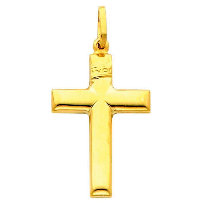 Pendentif 14 ct Or 585/1000 béatifique Croix
