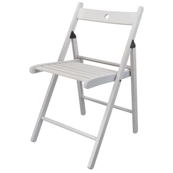 harbour housewares chaise pliante en bois blanc. Black Bedroom Furniture Sets. Home Design Ideas