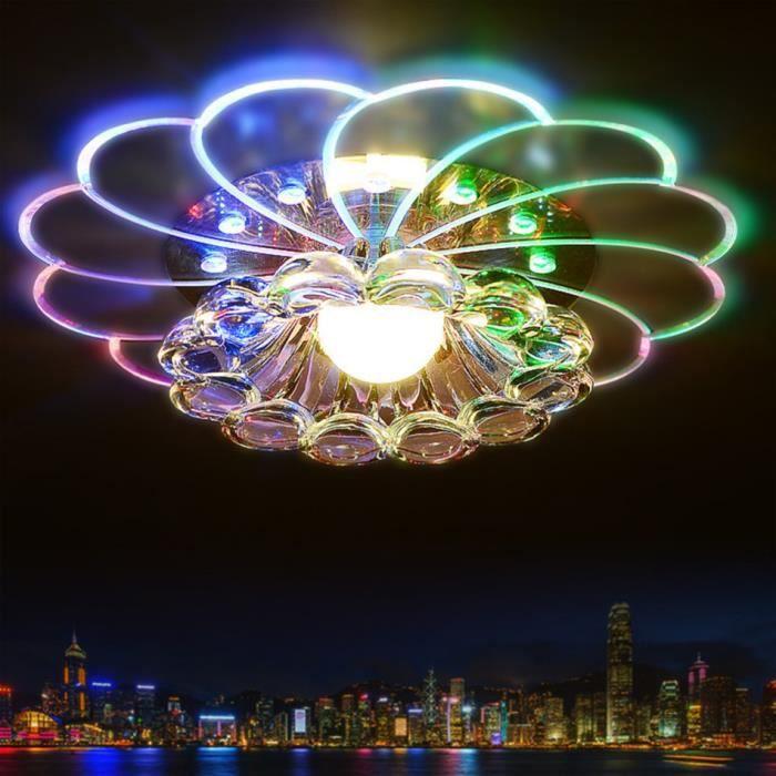 Moderne Abat-jour Cristal Plafonnier 5W LED colorée Romantique Lampe de plafond Pour le salon Hall d'entrée Porche Décor d'éclairage