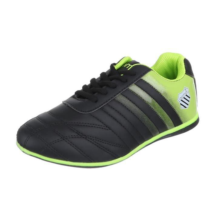 Chaussures femmes sneakers Derbies Basket noir vert
