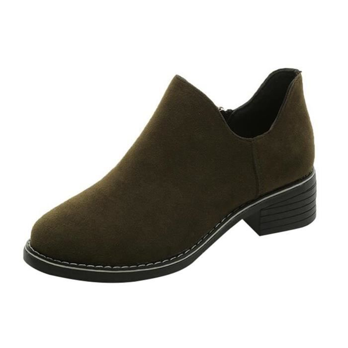 HEE GRAND Boots Femmes Plate pour Printmeps-Automne