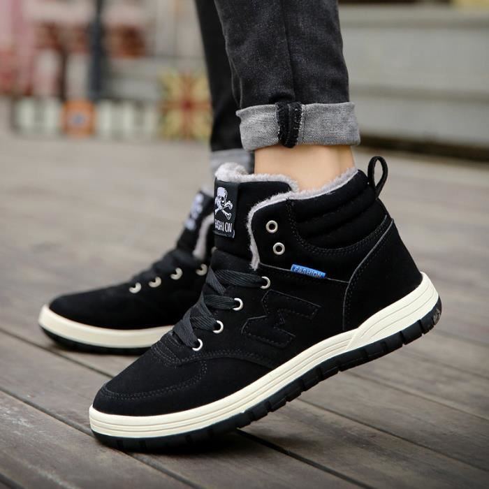 homme en chaussures cuir snow chaussure boots hommes 0w8YqSB