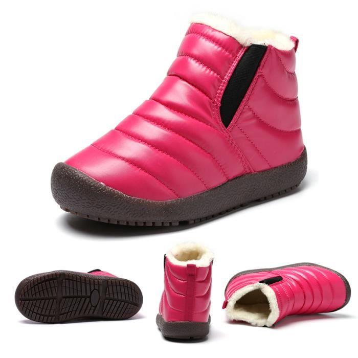 BOTTINE Bottine Enfant Fille Garçon Hiver Boots de Neige C