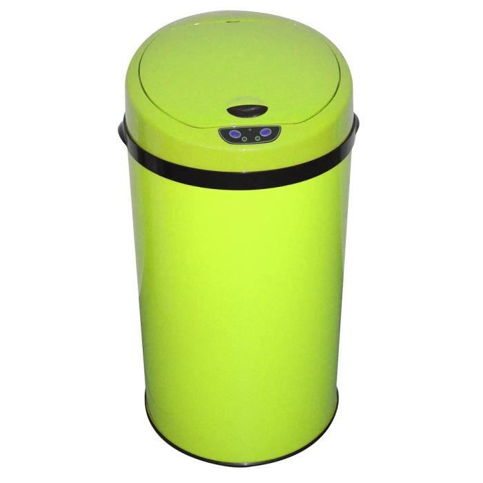 poubelle automatique 30l vert fluo achat vente. Black Bedroom Furniture Sets. Home Design Ideas