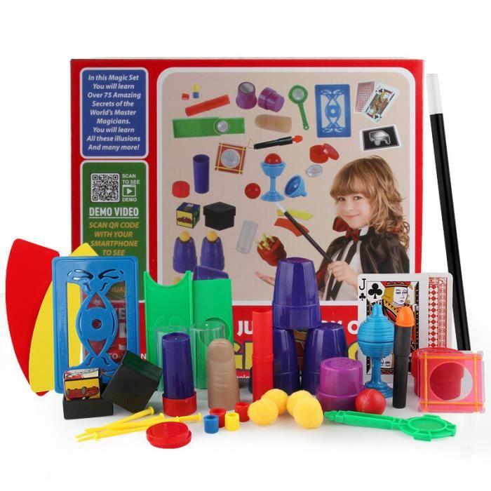 JEU MAGIE Kit de magie pour enfants avec baguette jouet et 7
