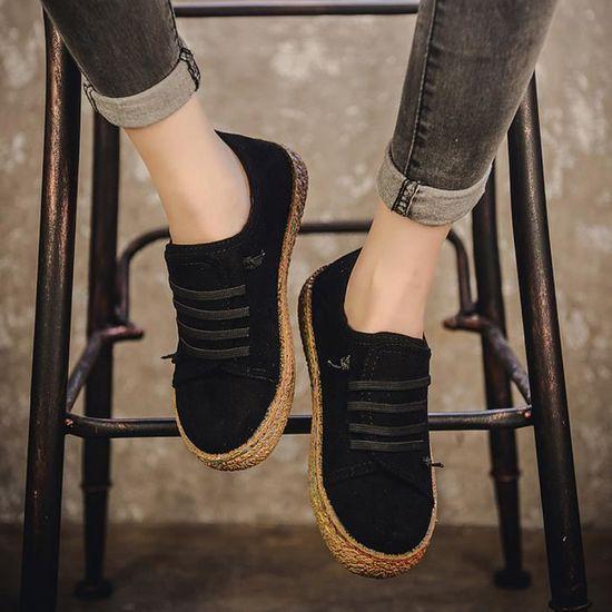 Spentoper Chaussures Lacets En Plates Femmes Cuir Femme Douces noir Simple À Bottines Bottes Suède Xw7wxqTn