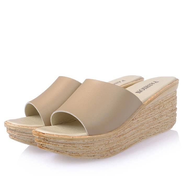 Femmes Mode Plate-forme Sandales Compensées