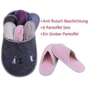 Sensly - Chausson Familial - 4 Paires de Pantoufles pour Toute la Famille eei8R