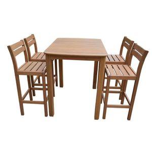 Ensemble table bar tabourets jardin - Achat / Vente pas cher