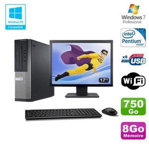 UNITÉ CENTRALE + ÉCRAN Lot PC DELL Optiplex 390 DT G630 2.7Ghz 8Go 750Go