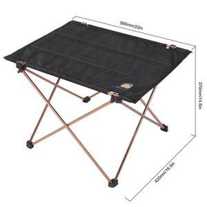 TABLE DE CAMPING Table de Camping Pliable d'alliage d'aluminium Tis